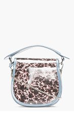 CARVEN Grey suede spot Print Round Bag for women
