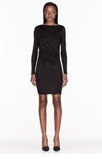 HELMUT HELMUT LANG Black Jersey Open-back Slide Crossover Dress for women