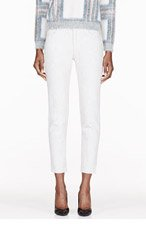 CHLOE Off-white bleached jeans for women