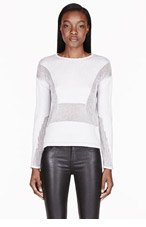 HELMUT LANG Oyster Grey Inverse Texture Pullover for women