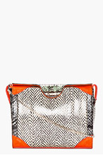 CARVEN Coral Snakeskin shoulder bag for women
