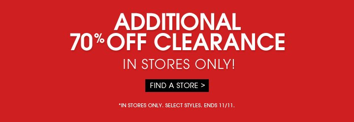 Additional 70% OFF Clearance!