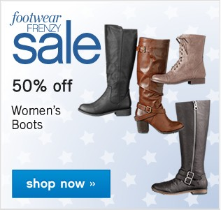Footwear Frenzy Sale. Shop now.