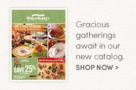 Gracious gatherings await in our new catalog. Shop Now
