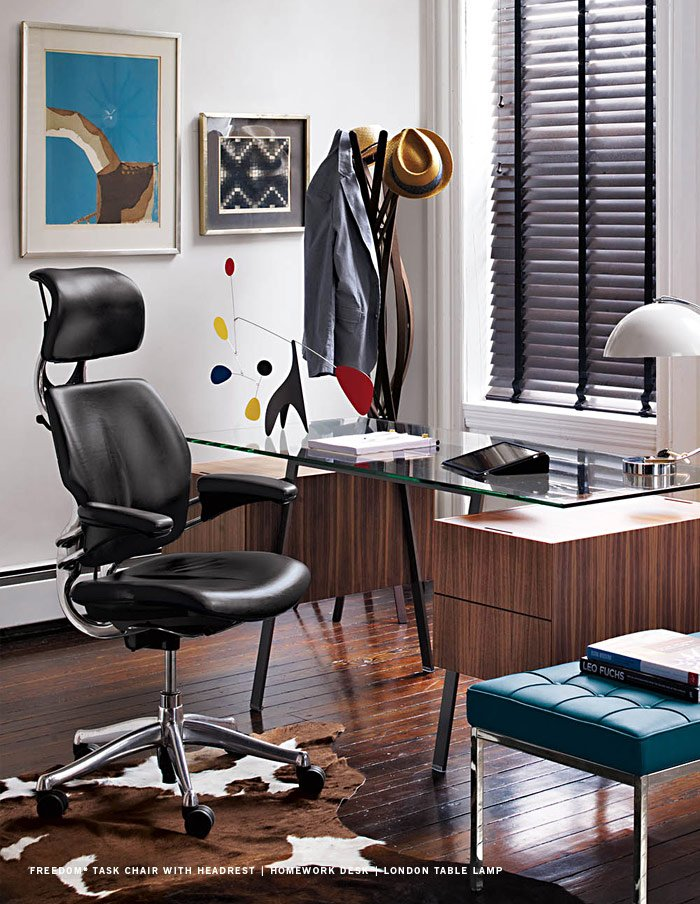 Freedom® Task Chair with Headrest | Homework Desk | LONDON TABLE LAMP