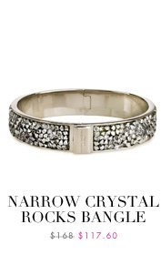 Narrow Crystal Rocks Bangle