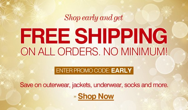 Free Shipping on All Orders - Enter Promo Code: EARLY