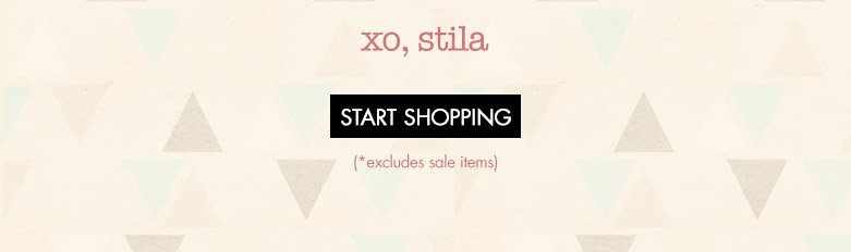 start shopping *excludes sale items