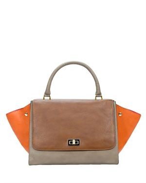 H&S Genuine Leather Color Block Purse Made In Italy