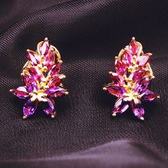 Gold Weekend: Gemstone Earrings at Clearance Pricing