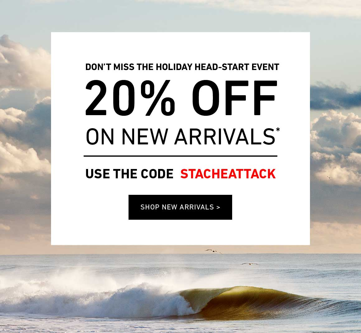 20% Off New Arrivals! Enter Code: STACHEATTACK