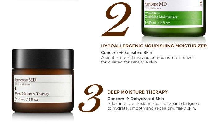 2. Hypoallergenic Nourishing Moisturizer 3. Deep Moisture Therapy