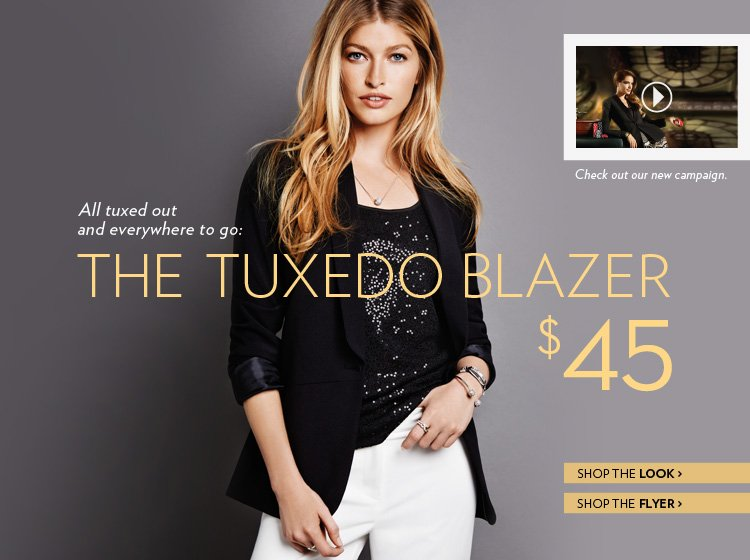 All tuxed out and everywhere to go: The Tuxedo Blazer $45 As seen on TV