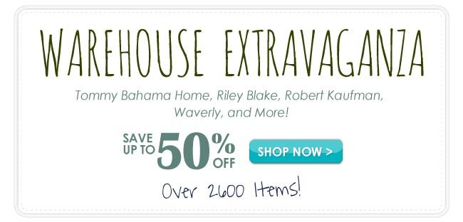 Up to 50% off Warehouse Extravaganza Sale