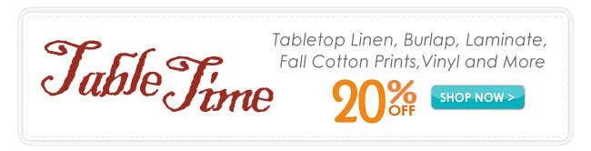 20% Off Fall Tabletop Sale