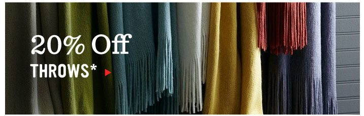 20% Off Throws*