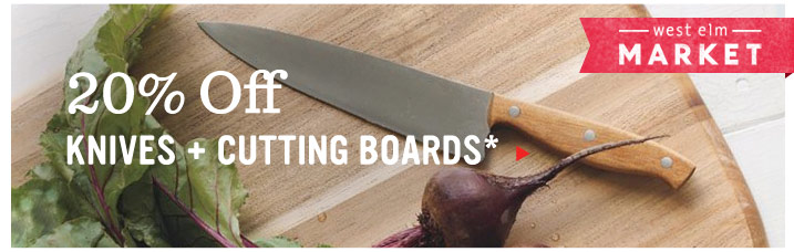 20% Off Knives + Cutting Boards*