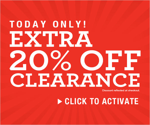 Today Only: Extra 20% off Clearance