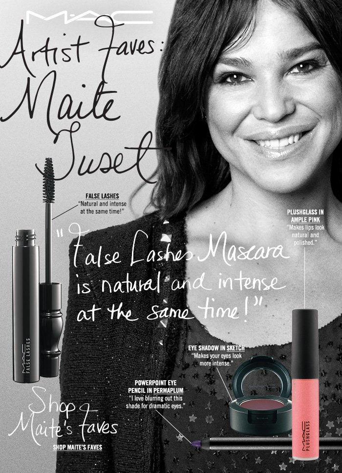 """False Lashes Mascara is natural and intense at the same time!"" Shop Maite's Faves"