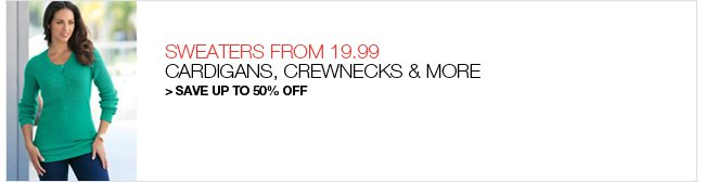 Shop Sweaters, Save up to 50% Off