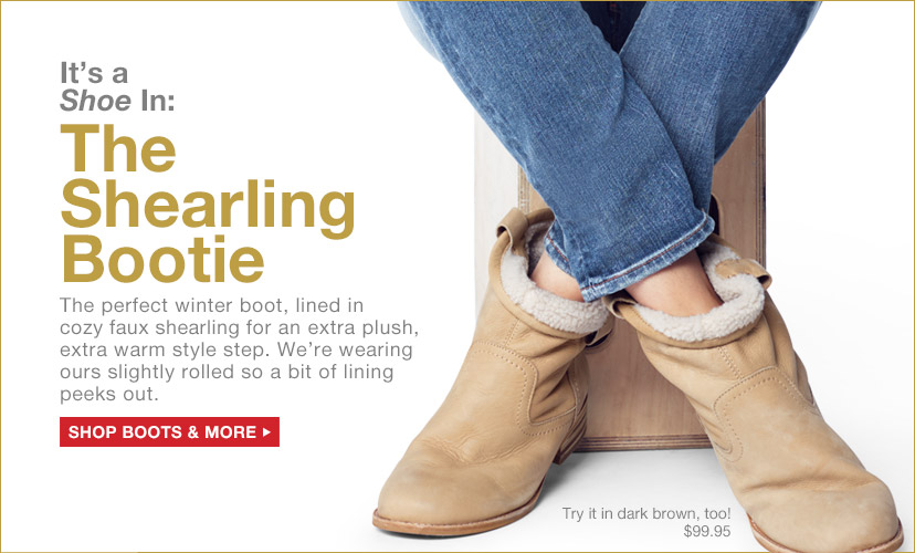 The Shearling Bootie | SHOP BOOTS & MORE