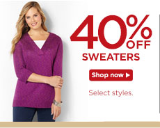 40% off Sweaters!