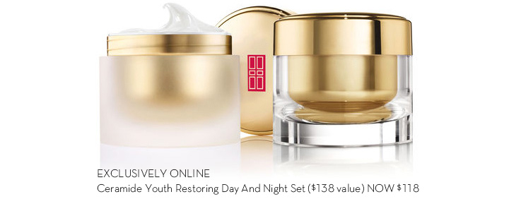 EXCLUSIVELY ONLINE. Ceramide Youth Restoring Day and Night Set ($138 value) NOW $118.