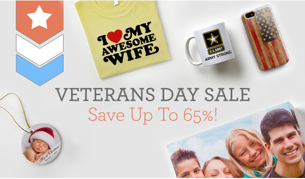 VETERANS DAY SALE Save Up To 65%!