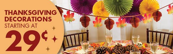 Thanksgiving Decorations Starting at 29¢