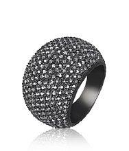 Stone Jet Hematite Ring