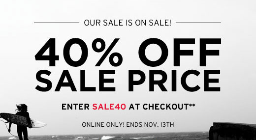 Our sale is on sale! 40% off sale price - Enter SALE40 at checkout**