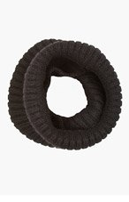 RICK OWENS Black Ribbed Alapaca Snood for women