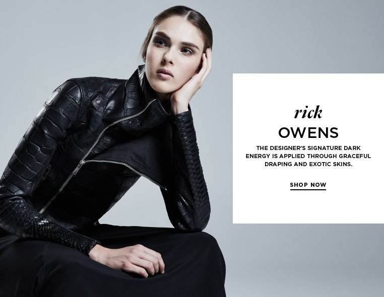 Dark romanticism from Rick Owens The designer's signature dark energy is applied through graceful draping and exotic skins.