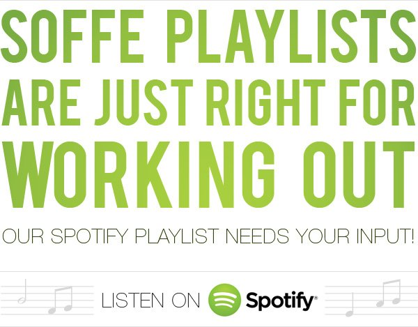 Soffe playlists are just right for working out.