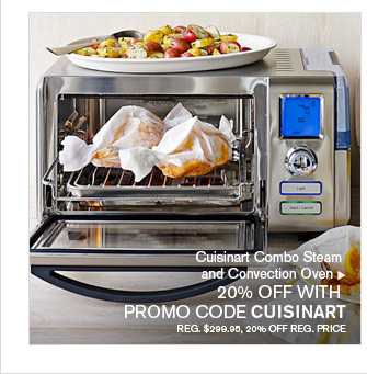 Cuisinart Combo Steam and Convection Oven - 20% OFF WITH PROMO CODE CUISINART - REG. $299.95, 20% OFF REG. PRICE