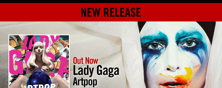 NEW RELEASE - LADY GAGA ARTPOP