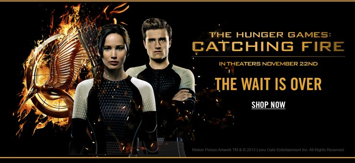 HUNGER GAMES - SHOP NOW