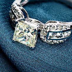 On Trend: Princess Cut Engagement Rings