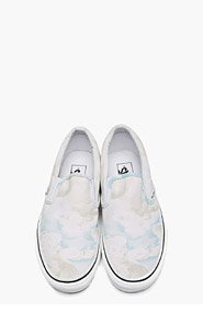 KENZO White cloud Print Vans Edition Slip-Ons for men