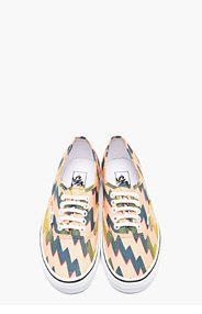 KENZO Orange Canvas Vans Edition Thunder Sneakers for men