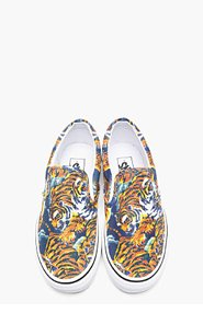 KENZO Orange Flying Tiger Print Vans Edition Slip-Ons for men