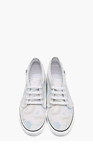 KENZO White cloud Print Vans Edition Chukka Sneakers for men