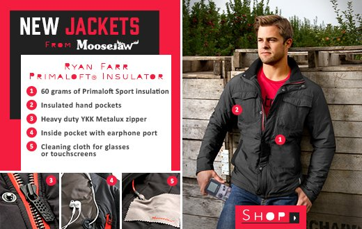 New Jackets From Moosejaw - the Ryan Farr