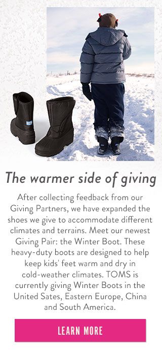 The warmer side of giving - learn more
