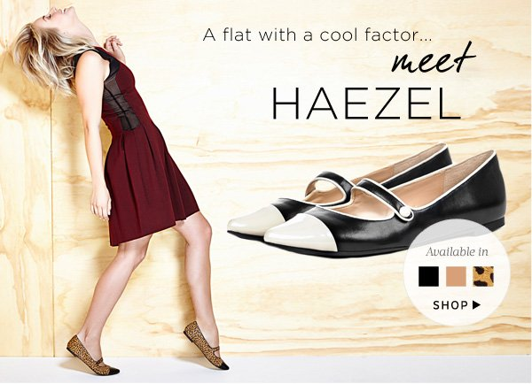 A flat with a cool factor...meet Haezel. Shop Haezel