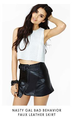 Nasty Gal - Bad Behavior Faux Leather Skirt