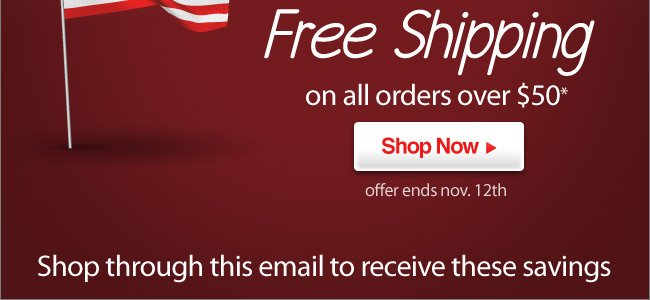 Happy Veterans Day! 10% Off & Free Shipping Over $50* - Shop Now