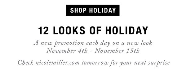12 Looks of Holiday. Day 6: 15% Off