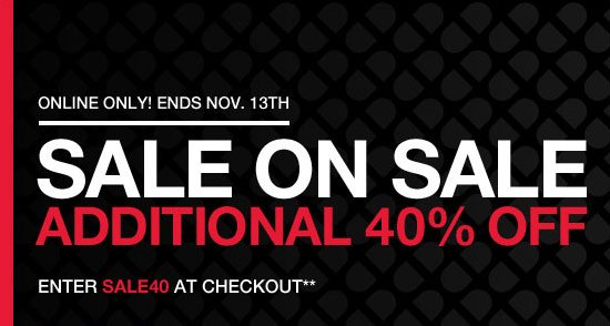 Sale on sale additional 40% off - Enter SALE40 at checkout**
