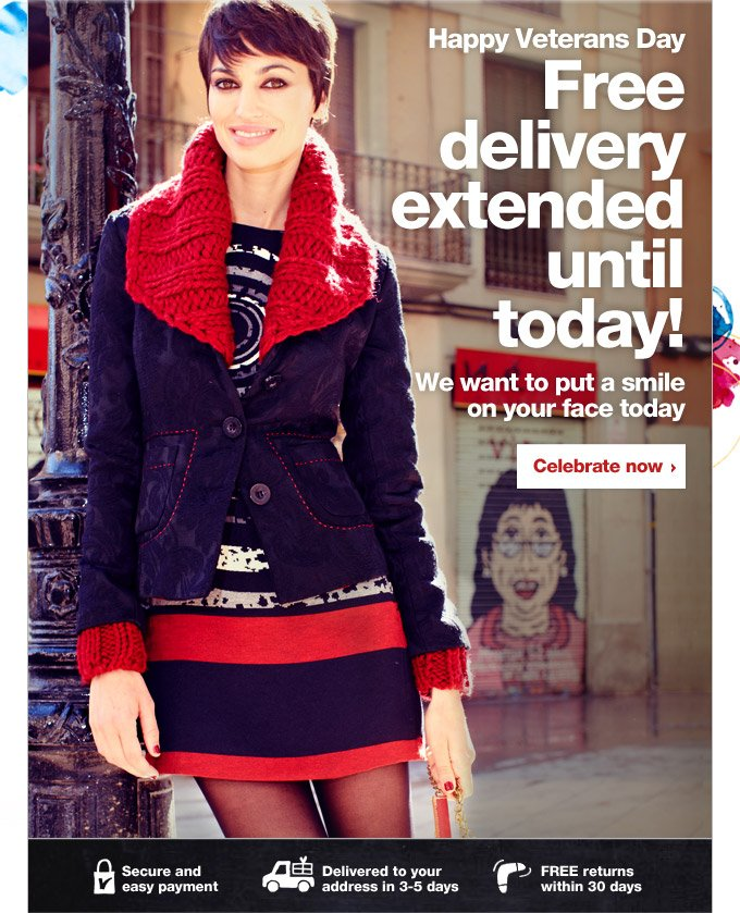 Free delivery extended until today!